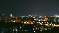 bokeh av stadsljus