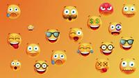 Loop de fundo de emoticons