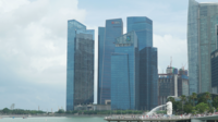 Skyline de la ville de Singapour