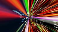 Streaming av data med siffror och ljuseffekter