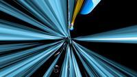 Transmisión de datos con números y efectos de luz