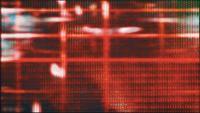 Les pixels de l'écran de télévision fluctuent avec la couleur et le mouvement vidéo