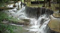 Waterfall With Stone Steps In Thailand