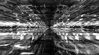 Data Storm 0112 - Voyager à l'intérieur d'un labyrinthe de données noir et blanc
