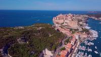 Korsikansk stad Bonifacio i 4K