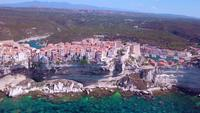 Corsicaanse stad Bonifacio in 4K