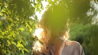 Frau An Einem Sommerpark