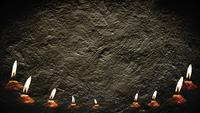 Cement Wall And Candlelight