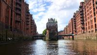 Old warehouse district Speicherstadt in Hamburg