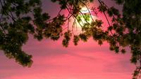 Cenário de lapso de tempo do sol