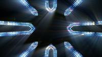 Fond de structures et lumières futuristes