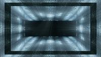 Estructuras futuristas y luces de fondo