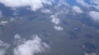 Vista aérea da paisagem da Austrália da vista da janela do avião