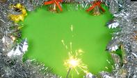 Brennende Wunderkerze Auf Weihnachtsdekorationen