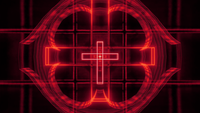 Glowing Christian Cross