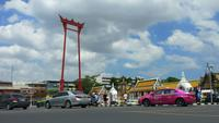 De gigantische schommel in Bangkok, Thailand