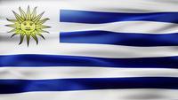 Uruguay-Flaggen-Schleife