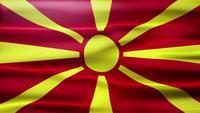 Mazedonien Flagge Loop