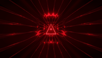 Red Triangle Wireframe