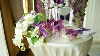 Table pour une cérémonie de mariage