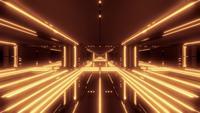 Túnel de ciencia ficción futurista