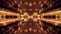 Túnel Hangar futurista de ciencia ficción