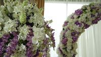 Arc de mariage de fleurs