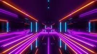 Futuristischer Science-Fiction-Tunnel