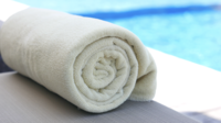 Towel Rolled Up Near Pool