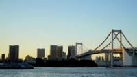 Regenboogbrug in Tokyo, Japan