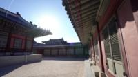 Palacio Gyeongbokgung en Seúl, Corea del Sur