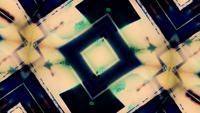 Abstracte caleidoscopische vormen Puls en flikkering