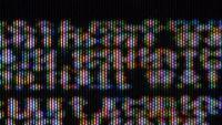 Macro de texte d'écran TV