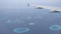 Airplane Wing With Islands View