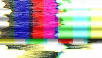 Barras coloridas da TV e mau funcionamento estático