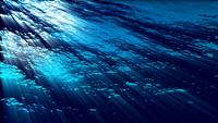 Underwater Ocean Waves Ripple and Flow with Light Rays