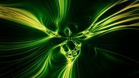 Psychedelische, betoverende vormen Undulate en hypnotiseren