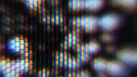 Pulsing TV Static Macro