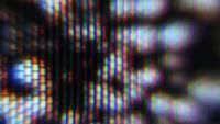 Macro estática da TV pulsante