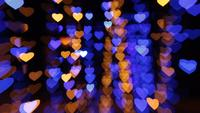Fondo abstracto con luces en forma de corazones