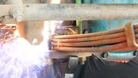 Mechanic Welding Steel Undercarriage