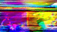 Imagens ruidosas de TV piscando