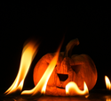 Fire Burning En Jack-o-lykta