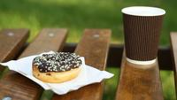 A Doughnut And A Coffee