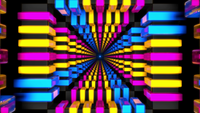 Túnel de néon colorido