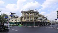 Gammal europeisk stilbyggnad i Bangkok, Thailand.