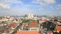 Time lapse of Bangkok skyline, Thailand