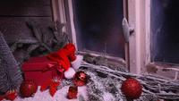 Winter Window With Christmas Decoration Gifts