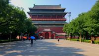 Sikt över det kinesiska trumtornet från gatan 4K