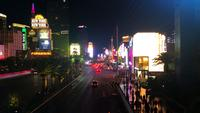 View Of The Strip In Las Vegas At Night 4K